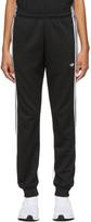 adidas Black 3-Stripe Wrap Lounge Pants