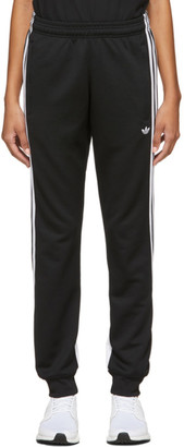 adidas Black 3-Stripe Wrap Lounge Pants