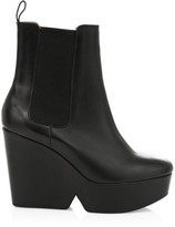 Clergerie Beatrice2 Leather Wedge Boots