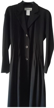 Issey Miyake Black Wool Coat for Women