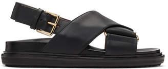 Marni Black Fussbett Sandals