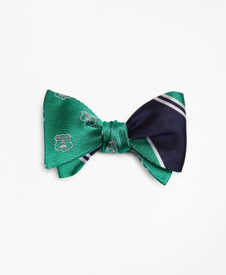 Brooks Brothers Crest with Stripe Reversible Bow Tie