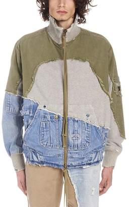 Greg Lauren Patchwork Distressed Jacket