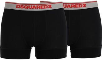 DSQUARED2 Underwear PACK OF 2 LOGO MODAL JERSEY BOXER BRIEFS