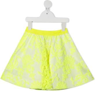 Mi Mi Sol Embroidered Floral Mini Skirt