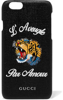 Gucci Tiger L'aveugle Coated-canvas Iphone 6 Case - Black