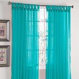 "Brylanehome Studio Voile Tab-Top Curtain (Burgundy,60"" W 63"" L)"