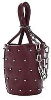 Alexander Wang Roxy Beet Stud Mini Bucket Bag
