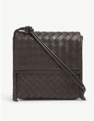 Bottega Veneta Fold small Intrecciato-weave leather satchel bag