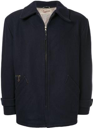 Fake Alpha Vintage Short Zipped Coat