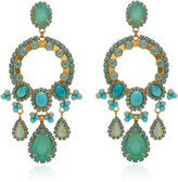 Elizabeth Cole Daphne 24K Gold-Plated, Crystal And Glass Earrings