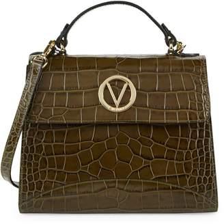 Mario Valentino Valentino By Sunny Croco-Embossed Leather Shoulder Bag
