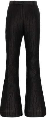 Versace mock croc silk jacquard trousers