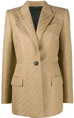Givenchy Wool Logo Woven Tailored Blazer