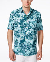 Tasso Elba Men's Floral-Print Short-Sleeve Shirt, Only at Macy's
