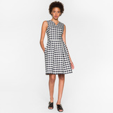 Paul Smith Women's Navy And White Gingham Dress