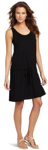 Allen Allen Women's Drawstring Waist Scoopneck Dress