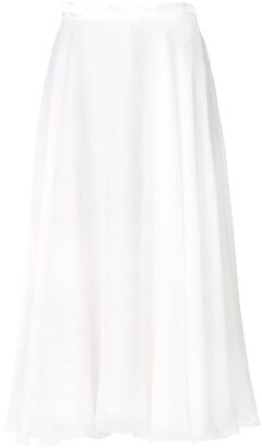 Lanvin Satin Trim Skirt
