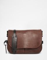 Polo Ralph Lauren Leather Messenger Bag - Brown