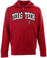 Antigua Men's Texas Tech Red Raiders Signature Zip Front Fleece Hoodie