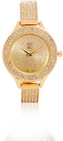 New York & Co. Sparkling Bangle- Bracelet Watch