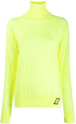 Circus Hotel fine knit roll neck top