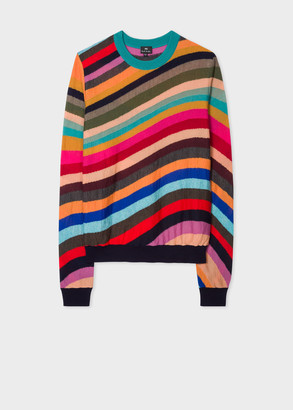 Paul Smith Women's 'Swirl' Intarsia Merino Wool Sweater