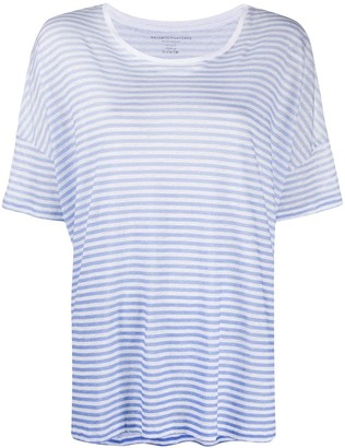 Majestic Filatures striped boat neck T-shirt