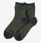 Toast Fine Stripe Cotton Cashmere Socks