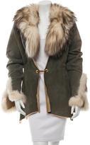 Roberto Cavalli Fur-Trimmed Shearling Coat