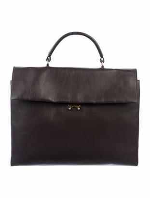 Marni Leather Shoulder Bag Brown