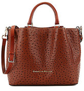 Dooney & Bourke Ostrich Collection Large Barlow Satchel