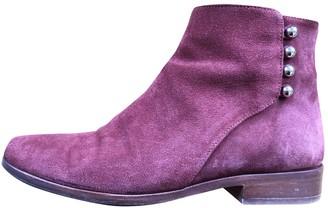 Sézane Sezane Burgundy Suede Ankle boots