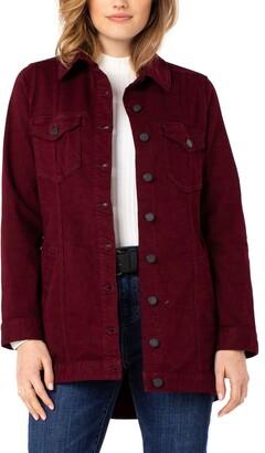 Liverpool Los Angeles Cotton Blend Stretch Denim Shirt Jacket