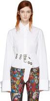 Marques Almeida White Oversized Sleeve Shirt