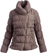 Kenneth Cole Thistle Diagonal-Zip Down Puffer Coat