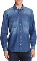 7 For All Mankind Indigo Denim Regular Fit Button-Down Shirt