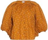 Thierry Colson Pandora carnation-print cotton blouse