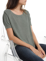 White + Warren Rib Jersey Easy Crewneck Top