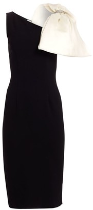 Ahluwalia Sleeveless Bow Crepe Sheath Dress