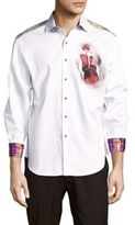 Robert Graham Printed Classic-Fit Cotton Button-Down Shirt