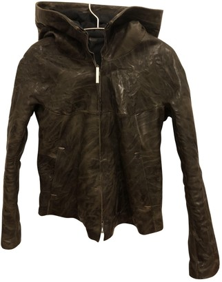 Isaac Sellam Brown Leather Jacket for Women