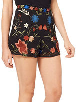 Miss Selfridge Floral Embroidered Shorts