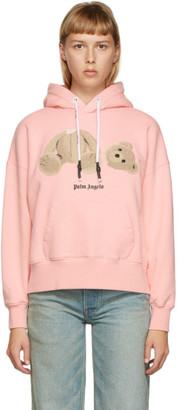 Palm Angels Pink Bear Hoodie