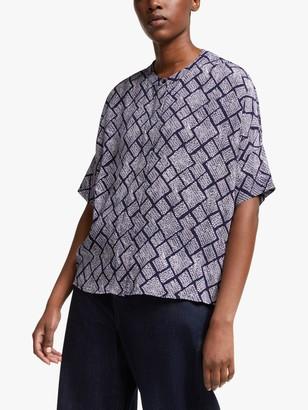 KIN Kanoko Short Sleeve Shirt, Blue