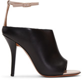 Givenchy Black and Beige Heeled Sandals