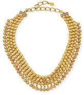Sequin Golden Mesh Statement Choker Necklace