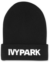 Topshop Ribbed Logo Beanie by Ivy Park