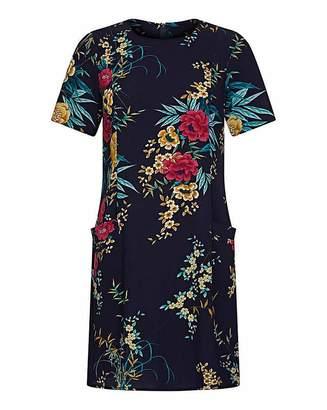 Yumi Curves Floral Navy Tunic Dress