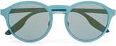 Prada Round-Frame Rubberised-Acetate Sunglasses